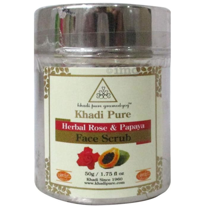 Khadi Pure Herbal Rose & Papaya Face Scrub
