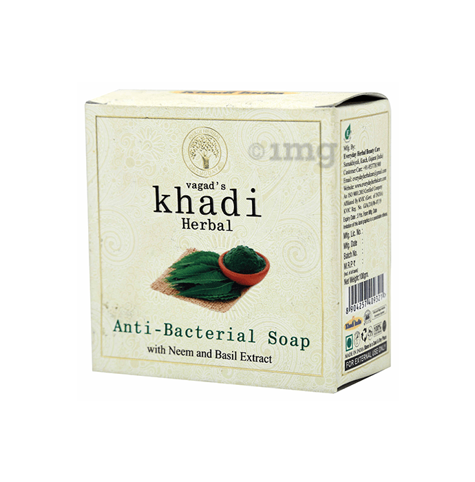 Vagad's Khadi Herbal Anti-Bacterial Soap with Neem and Basil Extract