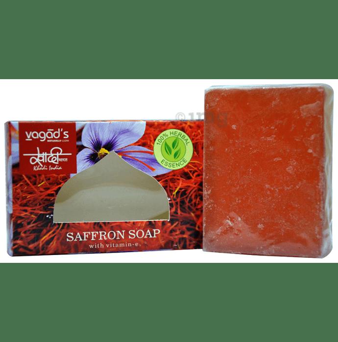 Vagad's Khadi Herbal Saffron with Vitamin-E Soap