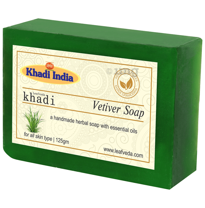 Khadi Leafveda Vetiver Soap