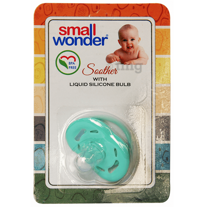 Small Wonder Soother with Liquid Silicone Bulb Green