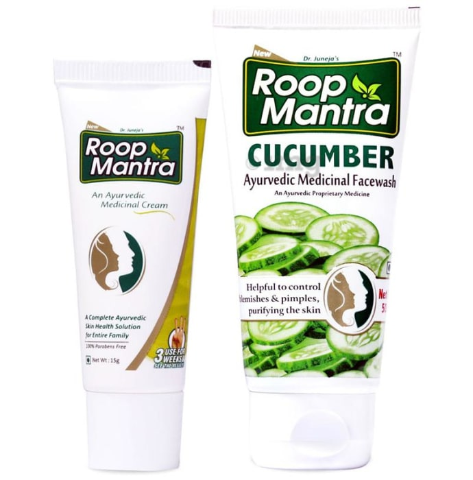 Roop Mantra  Combo Pack of Face Cream 15gm & Cucumber Face Wash 50ml