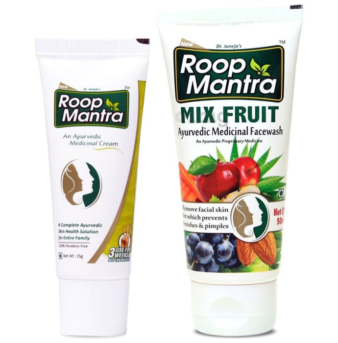 Roop Mantra  Combo Pack of Face Cream 15gm & Mix Fruit Face Wash 50ml