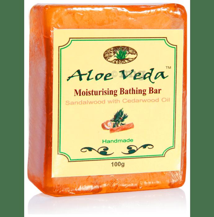 Aloe Veda Moisturising Bathing Bar Sandalwood with Cedarwood Oil