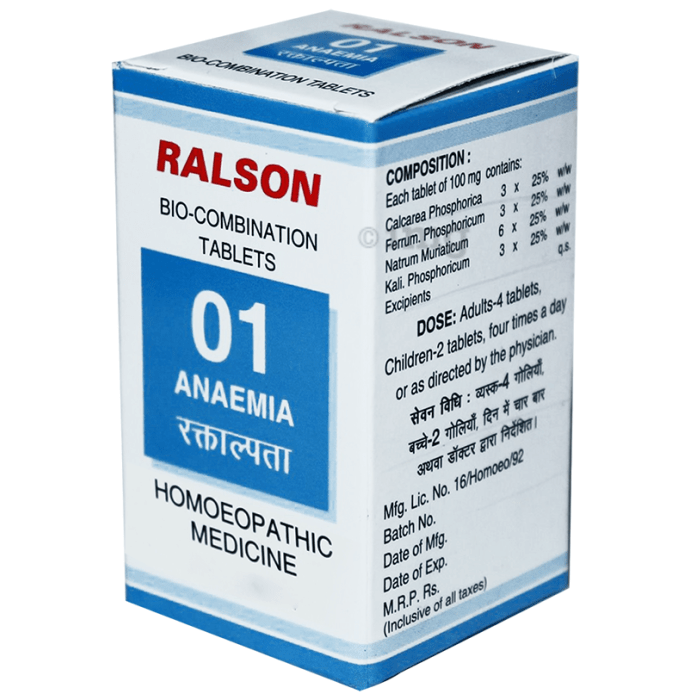 Ralson Remedies Bio-Combination 01 Tablet