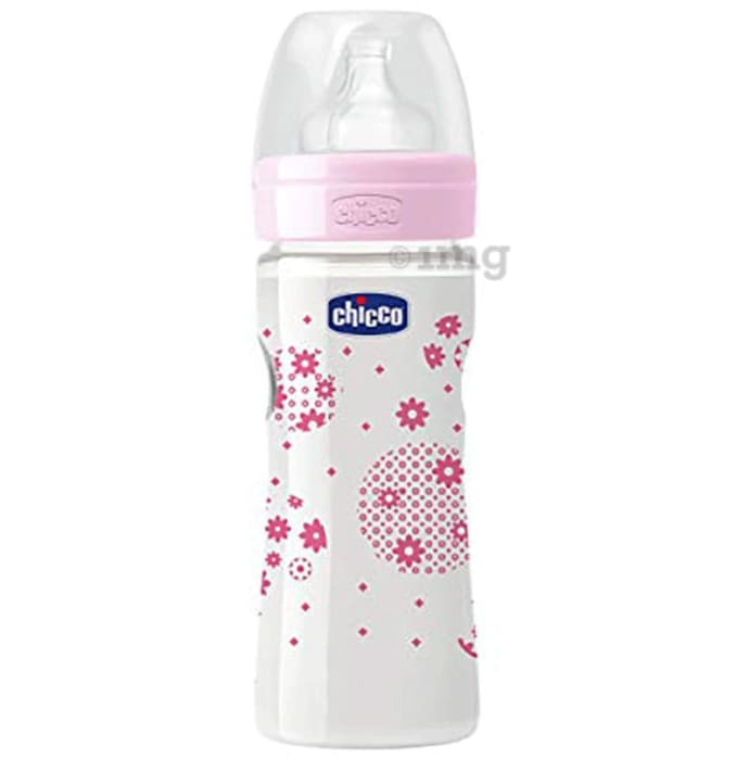 Chicco Wellbeing Feeding Bottle Pink