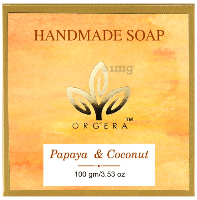 Orgera Sulfate Free Butter Handmade Papaya and Coconut Soap