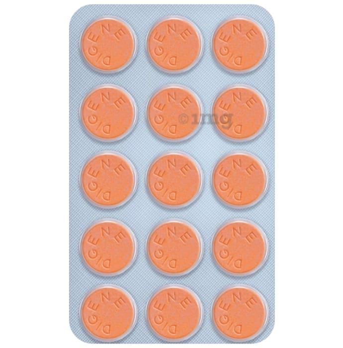 Digene Acidity & Gas Relief Tablet Orange