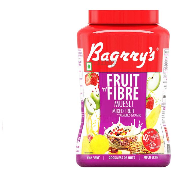 Bagrry's Fruit 'n' Fibre Mixed Fruit with Almonds and Raisins Muesli