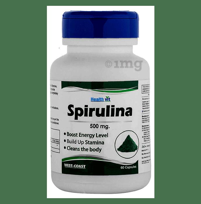 HealthVit Spirulina 500mg Capsule