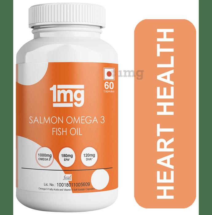 1mg Salmon Omega 3 Fish Oil Capsule