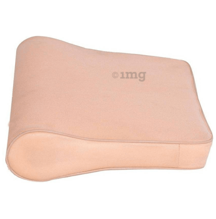Medtrix Cervical Pillow Spondylosis Neck and Back Pain Support Universal Beige Eco