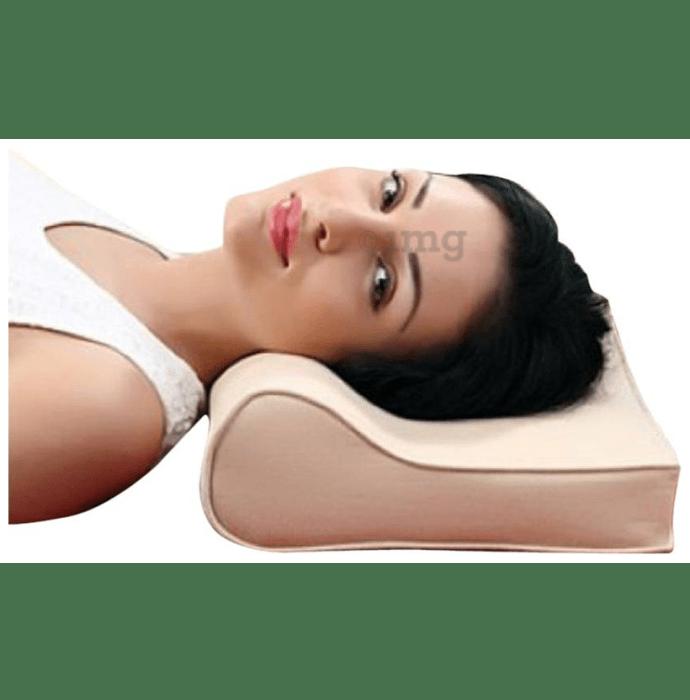 Medtrix Cervical Pillow Spondylosis Neck and Back Pain Support Universal Beige Premium
