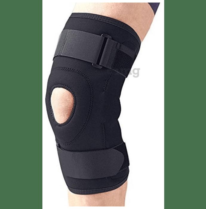 Medtrix Functional Open Patella Hinge Knee Support Large Black