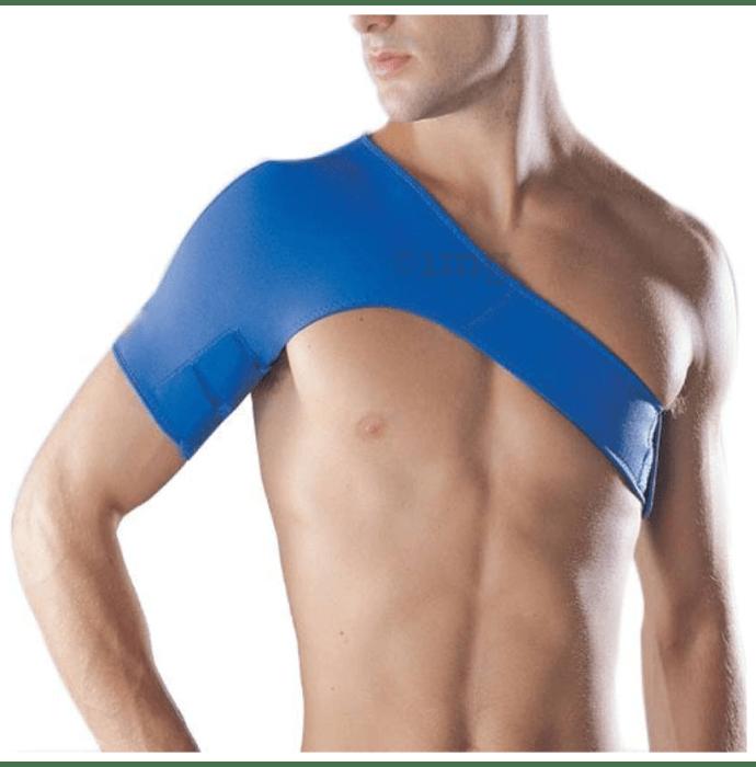 Medtrix Compression Neoprene Shoulder Brace Blue Right