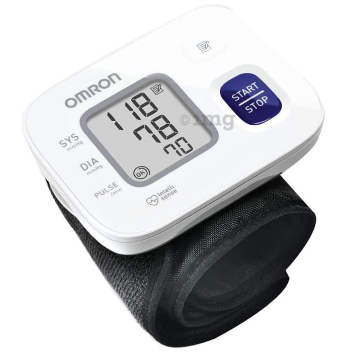 Omron HEM 6161 Fully Automatic Wrist Blood Pressure Monitor White