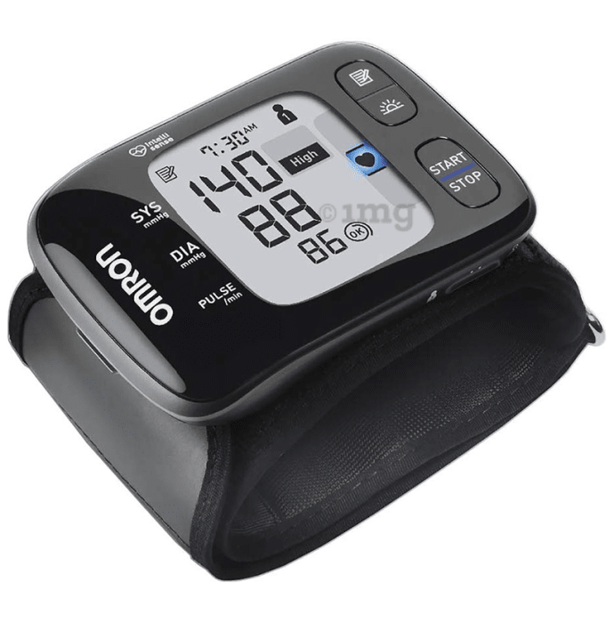 Omron HEM 6232T Bluetooth Wrist Blood Pressure Monitor Black