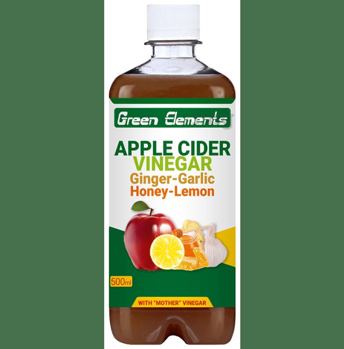 Green Elements Apple Cider Vinegar Ginger-Garlic Honey-Lemon with Mother Vinegar