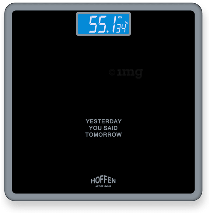 Hoffen Digital/LCD Weighing Scale Black with Blue Backlight