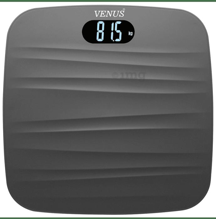 Venus Digital LCD Weighing Scale Black Prime Lightweight ABS