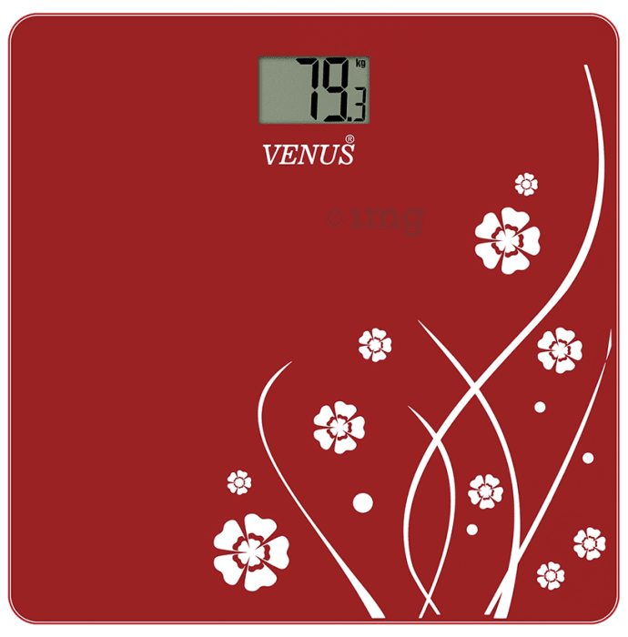 Venus Digital LCD Weighing Scale Red Glass