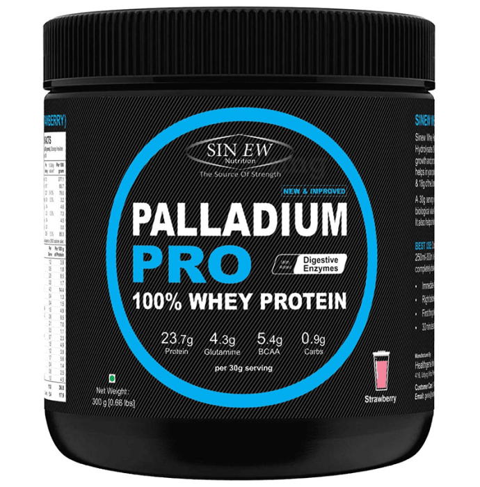 Sinew Nutrition Palladium Pro 100% Whey Protein with Digestive Enzymes Strawberry