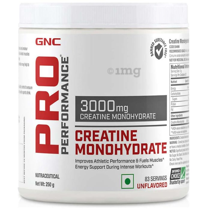 GNC Pro Performance Creatine Monohydrate 3000mg Powder Unflavoured