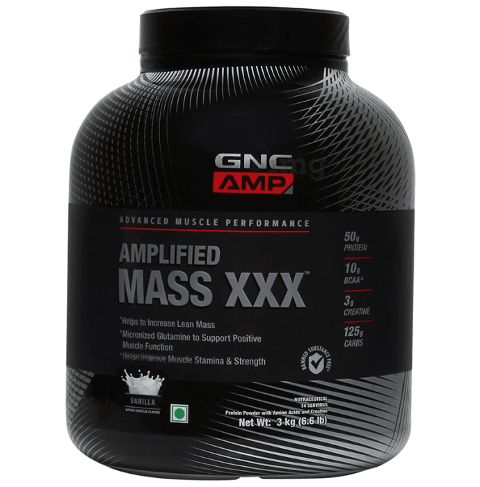GNC Amplified Mass XXX Vanilla Powder