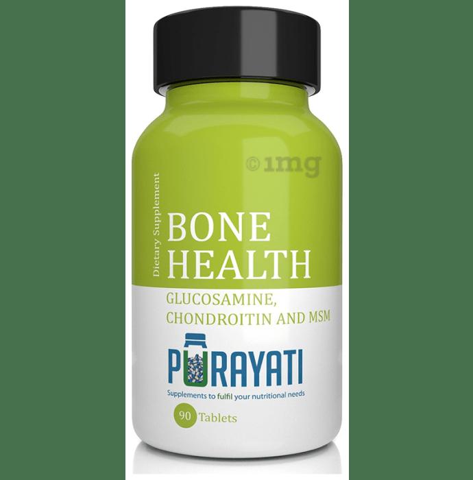Purayati Bone Health Glucosamine, Chondroitin and MSM Tablet