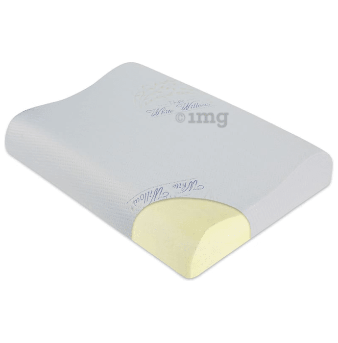 The White Willow Cervical Orthopedic Memory Foam Contour Pillow Small