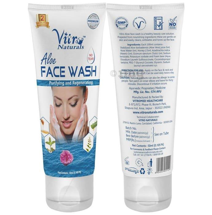 Vitro Naturals Aloe Face Wash