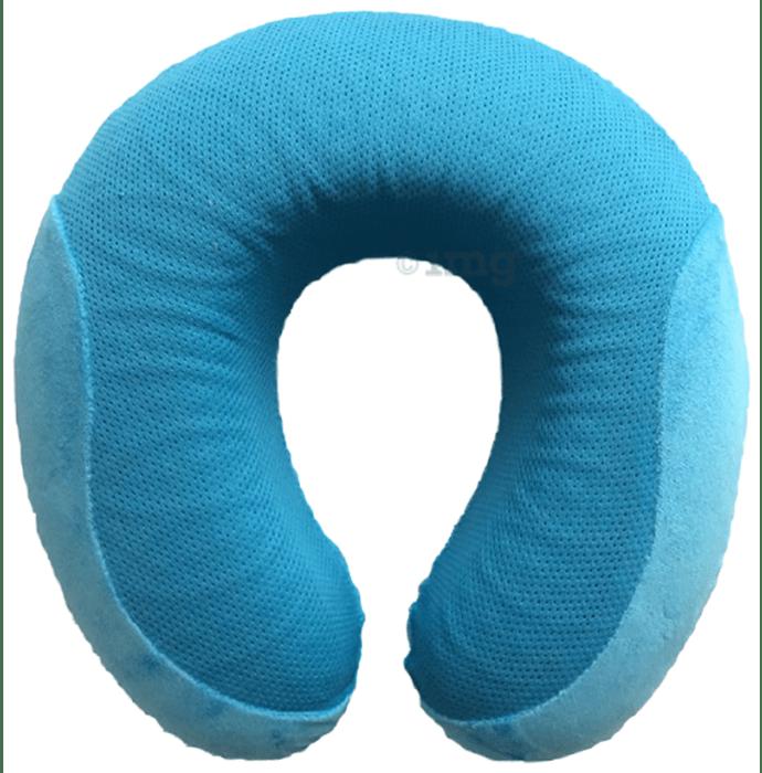 Viaggi Cooling Gel Memory Foam Neck Pillow Turquoise Blue