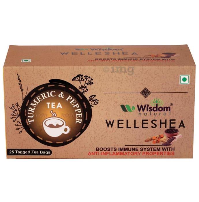 Wisdom Natural Welleshea Tea Turmeric Pepper