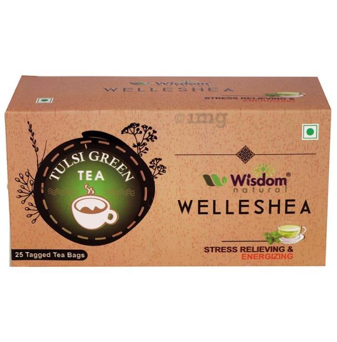 Wisdom Natural Welleshea Tea Tulsi Green