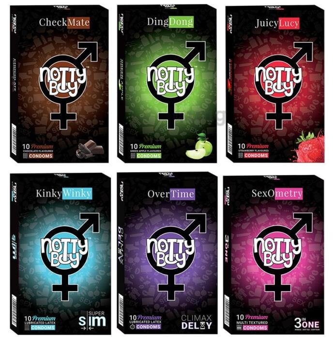 Notty Boy Condoms (10 Each) Honeymoon Combo