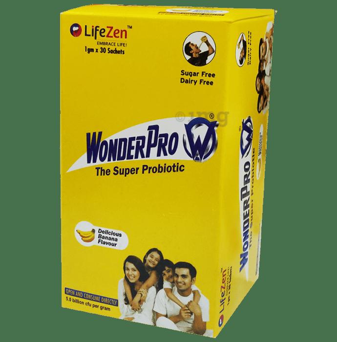 WonderPro The Super Probiotic Sachet (1gm Each) Delicious Banana