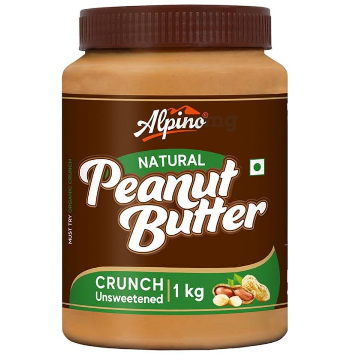 Alpino Natural Crunch Unsweetened Peanut Butter