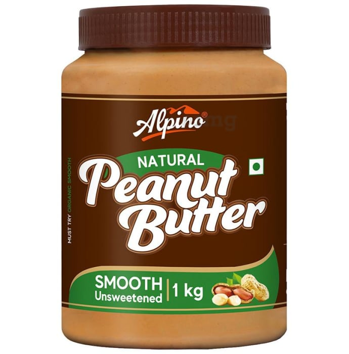 Alpino Natural Smooth Unsweetened Peanut Butter