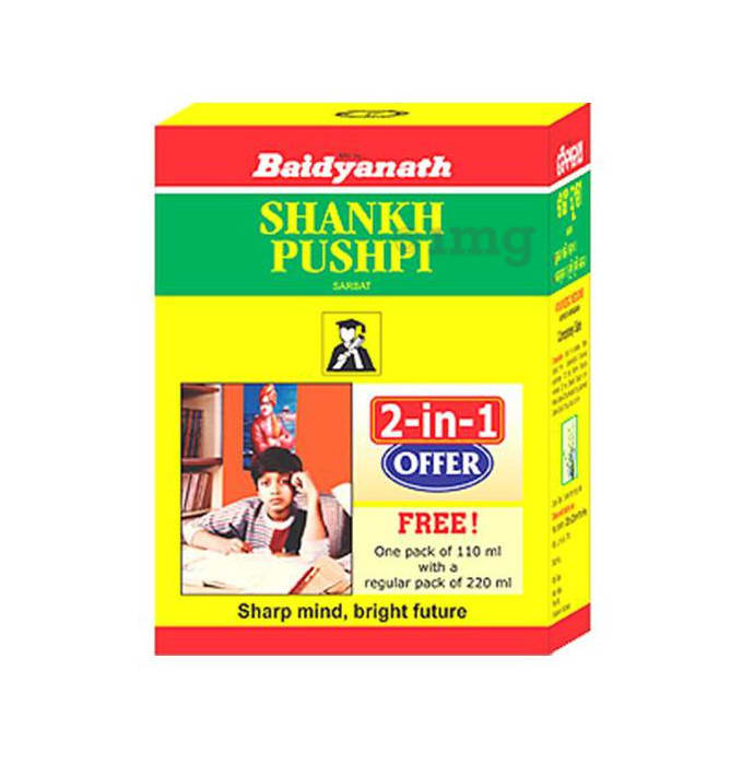Baidyanath Shankhpushpi Sarbat 2-in-1 Offer( 220 ml with Free 110ml)