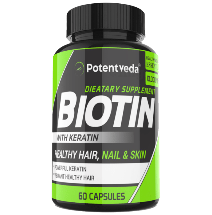 Potentveda Biotin with Keratin Capsule