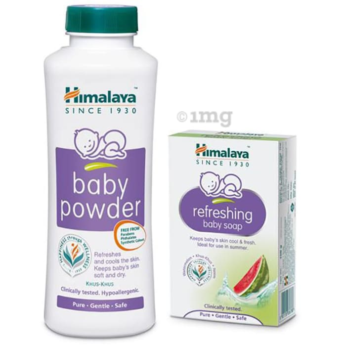 Himalaya Baby Combo Pack of Baby Powder 200gm and Refreshing Baby Soap 75gm