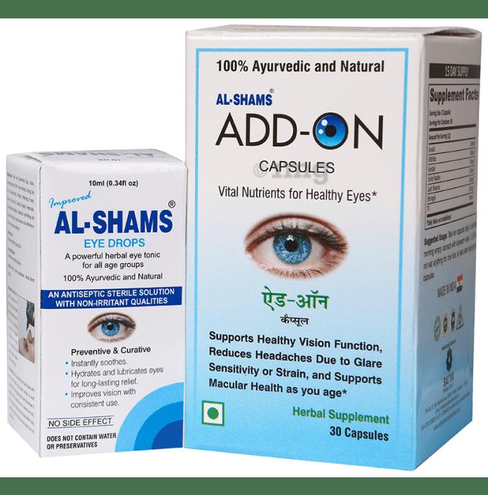 Al-Shams Combo Pack of Eye Drop 10ml & Add-On 30 Capsule