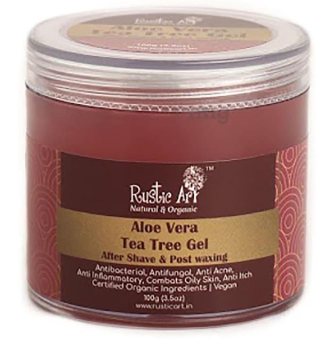 Rustic Art Organic Aloe Vera Gel Tea Tree