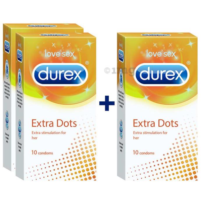 Durex Extra Dots Condom 10s (Buy 2 Get 1 Free)