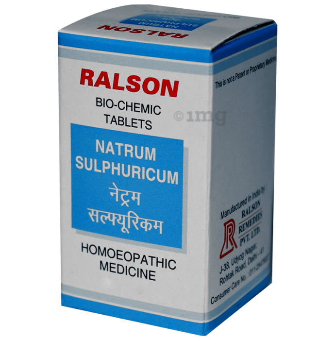 Ralson Remedies Natrum Sulphuricum Biochemic Tablet 200X