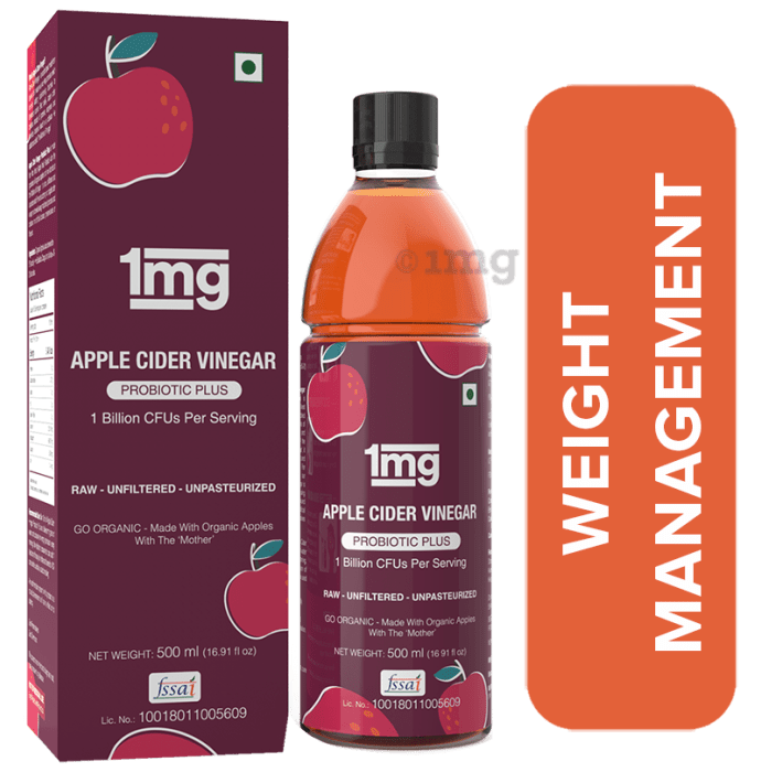 1mg Apple Cider Vinegar Probiotic Plus - Raw Unfiltered Unpasteurized with The Mother