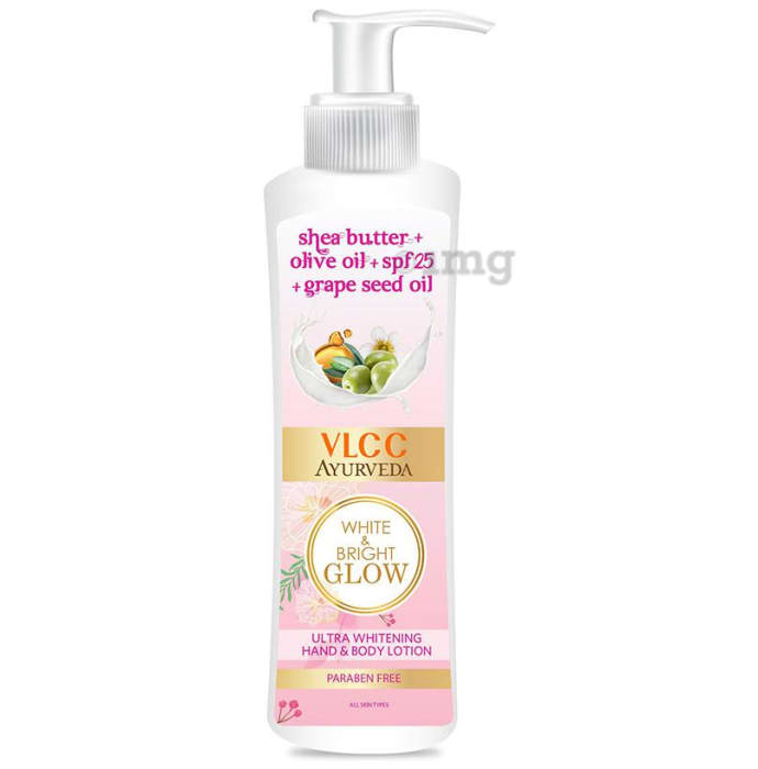 VLCC Ayurveda White & Bright Glow Body Lotion SPF 25