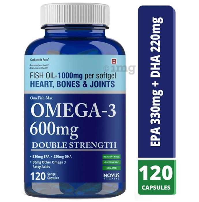 Carbamide Forte Omega 3 600mg Double Strength Softgel Capsule