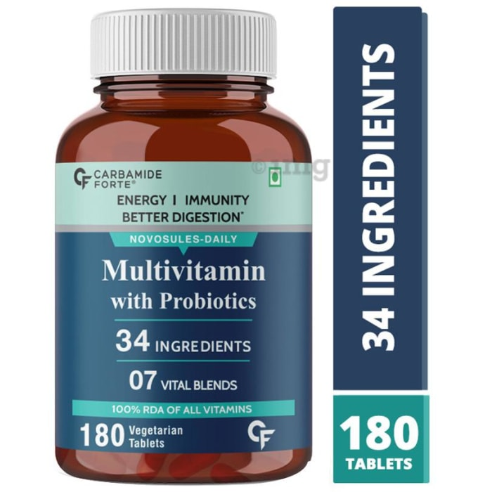 Carbamide Forte Multivitamins with Probiotics Vegetarian Tablet