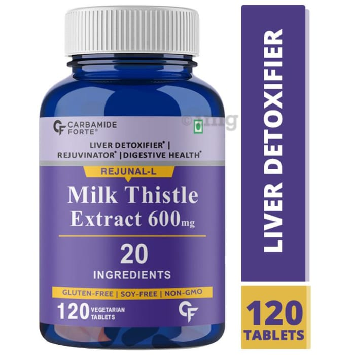 Carbamide Forte Milk Thistle Extract 600mg Vegetarian Tablet